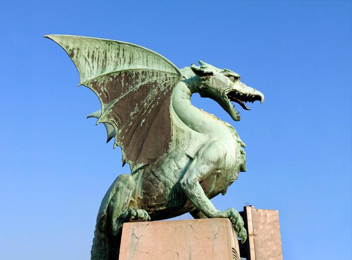 Dragon Bridge Ljubljana Slovenia.